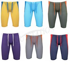 Mens Workout Athletic Shorts Pants Stretch Sports Gym Compression Bottoms Tights