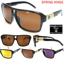 MENS COLDWATER CLASSIX POLARIZED SUNGLASSES WITH SPRING HINGE Brown, Gold, Green
