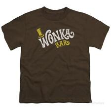Youth: Willy Wonka And The Chocolate Factory/Wonka Logo Kids T-Shirt - Brown