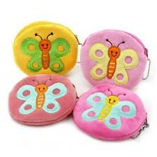 Colorful Butterfly Plush Women Cute Coin Purse Mini Change Coin Wallet Pouch Bag