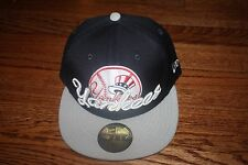 NEW YORK YANKEES NEW ERA SCRIPT PUNCH 59FIFTY HAT CAP 100% AUTHENTIC