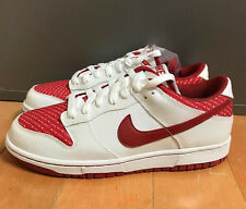 NIKE DUNK LOW VALENTINES DAY WHITE RED CASUAL WOMENS WMNS SZ 8   309324-166