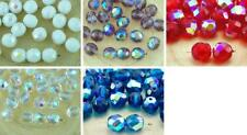 20pcs Ab Half Round Faceted Fire Polished Spacer Czech Glass Beads 8mm