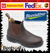 New Blundstone Mens 550 Work Dress Boots Shoes Soft Toe Brown Leather AU Size