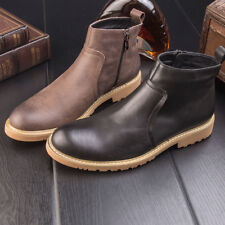 Genuine Leather Mens British Zipper Business Formal Dress Ankle Boots Shoes US