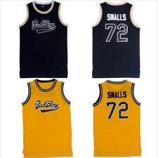 BAD BOY NOTORIOUS BIG BASKETBALL BIGGIE SMALLS #72  JERSEY SEWN Stitched S-2XL
