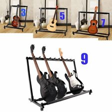 Multiple Guitar Folding Rack Storage Organizer Electric Acoustic Stand Holder BP