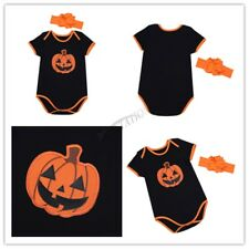 Halloween Newborn Baby Toddler Girls Romper Tutu Skirt Pumpkin Outfits Costumes