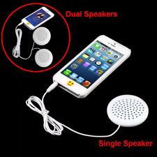 Portable Mini White 3.5mm Pillow Single/Dual Speakers for MP3 MP4 CD iPod Phone