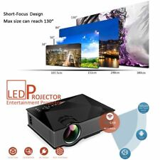 UC46 Wifi HD 1080P LED Video Projector 3D Wifi Home Theater SD TV/USB/VGA LOt XP