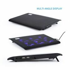 6 Fans LED USB Cooling Stand Pad Cooler For 11''-16.5'' Laptop Notebook Lot  F5