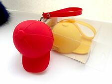 NEW Fashion Silicone Cap Wristlet Zip Money Coin Bag KeyChain Strap Yellow Red
