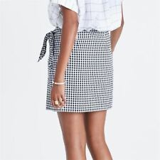 Women Plaid Pattern Black and White Color Vintage Stylish Skirts