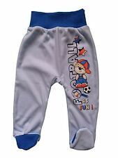 "NEW ""FOOTBALL"" Baby Boys Trousers/Leggings with feet 100% Cotton* 9-12 Months"
