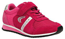 Clarks SUPER STEP Girls Rose Pink Suede Leather Trainers Shoes 7 - 11 FGFit BNIB