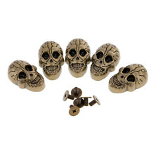 5 Set Screwback Studs Skull Spike Spots Punk Belt Leathercraft Decor Rivet Goth