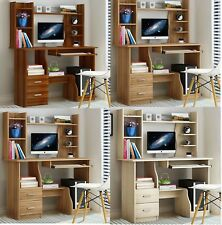 Home Office Study Work Station Computer PC Desk Table Storage Drawers Organiser