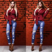 Long Sleeve Turn Down Collar Polyester Fabric Casual Blouse For Women