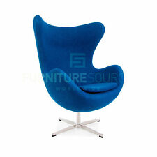 Arne Jacobsen Style Mid Century Classic Egg Lounge Arm Chair Soft Premium Wool