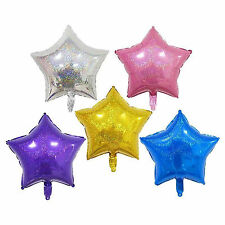"18""5 Color Glitter Star Helium Foil Balloon For Wedding Birthday Party Decor"