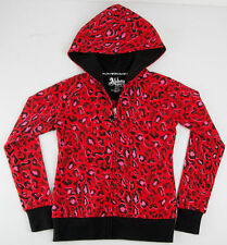 Abbey Dawn Avril Lavigne Red Leopard Kisses Girls Hoodie Child-364