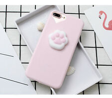 Light Pink Sillicone 3D Kitty Cat Pawprint iPhone Phone Case