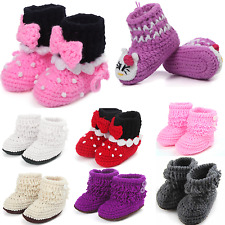 Cute Handmade Baby Newborn Infant Crochet Knit Sock Soft Warm Toddler Shoes Boot