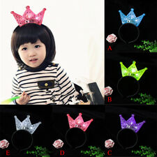 Light-Up Luminous Princess Crown Headband LED Blinking Flashing Costume Party