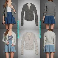 NWT ABERCROMBIE & FITCH WOMENS HAILEY BOMBER JACKET SWEATSHIRT SIZE M,L A&F