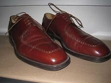 Santoni Mens size 10.5 Brown Leather Laced Oxford Italy Classic Traditional