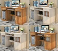 Home Office Table Work Station Computer PC Desk Storage Cabinet Shelves Drawers