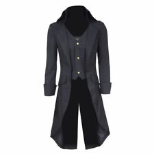 Mans Steampunk Military Tailcoat Coat Long Jacket Gothic Party Business Suit