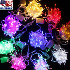 US 10M/100LED LED String Fairy Lights Xmas Wedding Party Decor with US Tail Plug