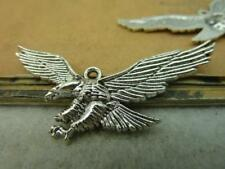 New product 8/24pcs Exquisite antique silver alloy lovely eagle charm pendant