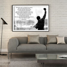 Rocky Balboa Inspirational Quote Poster Print Wall Art Large A1 A2 A3 A4