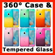 360° Full Hybrid Tough Case Cover + Tempered Glass for Apple iPhone 6 6s 7 Plus