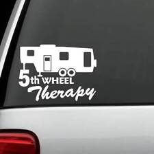 C1140 5th Wheel Therapy Camper Travel Trailer Hiker Decal Sticker Tent Hiking