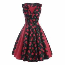 Women Multi Color Vintage Floral Print Patchwork Sleeveless Summer Party Dress