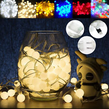 50/100LED Bulbs String Lights Ball Globe Fairy Lamp Festival Xmas Indoor Outdoor