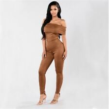 New Fashion Solid Pattern Chiffon Fabric V Neck Loose Jumpsuit for Women