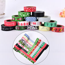 Colourful Decorative Sticky Paper Adhesive Roll Xmas Decoration Paper Tape wyh