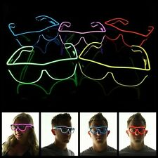 EL Wire Light Up Glow Glasses Sun Glasses Music Sound Control Club Eyeglasses
