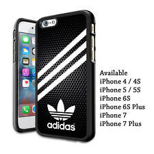 Adidas Logo Three Stripes Print Plastic Hard Case For iPhone 5s 6s 7 8 X (Plus)