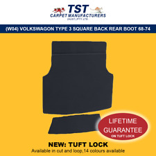 MOULDED CAR CARPETS (W04) VOLKSWAGON TYPE 3 SQUARE BACK REAR BOOT 1968-1974