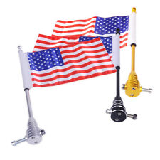 American USA Flag Flagpole for Universal Motorcycle Bike Luggage Rack Mounting
