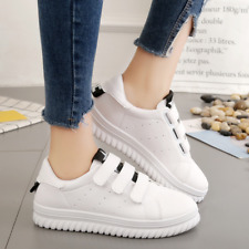 Women's Fashion Leather Lace Up Sneakers Trainer Superstar Shoes