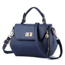 Women Fashion Casual Pu Leather Cross Body Lock Cell Phone Pocket Shoulder Bag