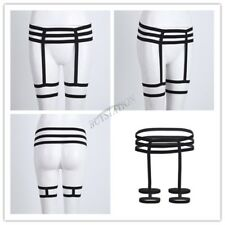Women Lady Sexy Elastic Body Bra Harness Thigh Garter Belt Stocking Lingerie Leg