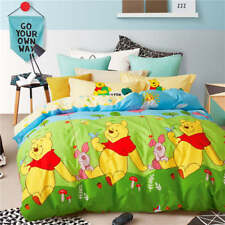 NEW Green Yellow Winnie the Pooh Disney Comforter Bedding Sets Baby Boys Bedroom