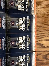 1-4 Houston Astros World Series Home Game 1 Tickets 2017 Minute Maid Sec 427 R 1